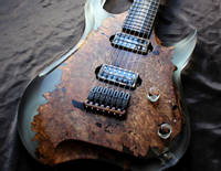 Poisonwood and Resin Electric Guitar with GlassCast 50 Clear Epoxy Thumbnail